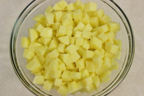 Нарезанная Картошка кубиками