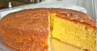 Быстрый бисквит на кефире простой рецепт