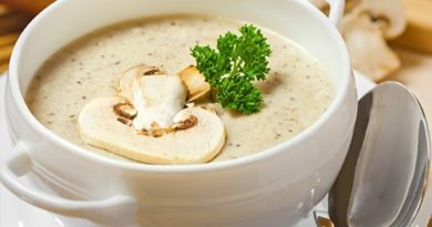 Грибной крем суп из шампиньонов и сливок