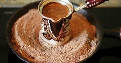 Кофе на песке в домашних условиях