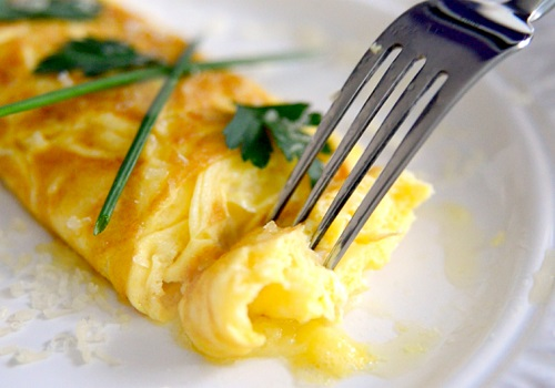 Омлет по-французски с сыром