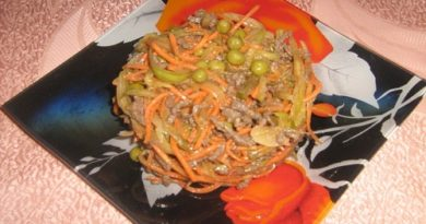Салат обжорка с говядиной рецепт с фото пошагово