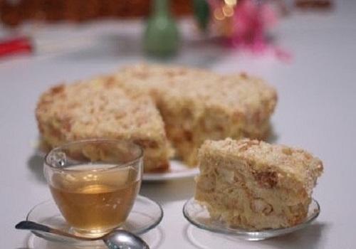 Торт без выпечки Наполеон из печенья «Ушки»