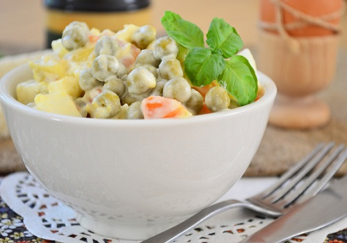 Салат картошка горошек яйцо