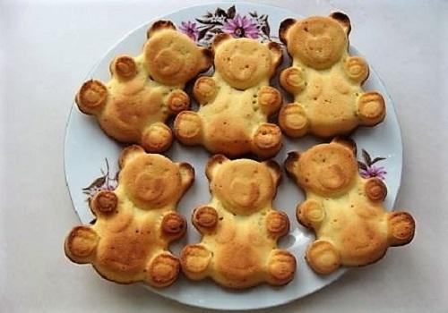 Бисквитные мишки барни по-домашнему рецепт с фото пошагово