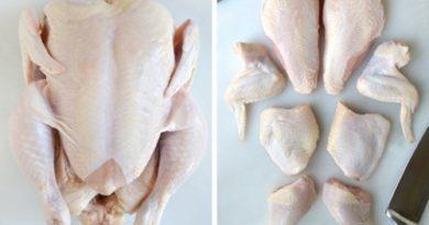 Как правильно разделывать курицу