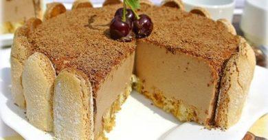 Шоколадный торт суфле без выпечки