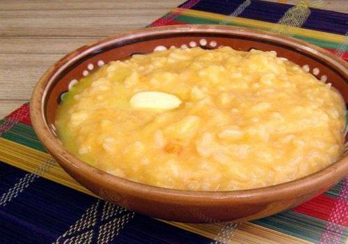 Тыквенная каша с рисом и молоком