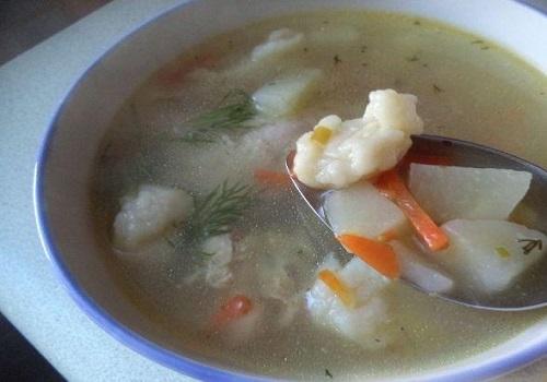 Куринный суп с клецками