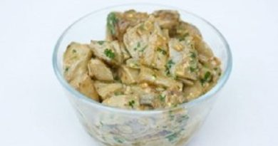 «Грибной» салат из баклажанов