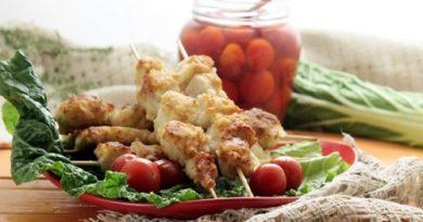 Куриные шашлычки на сковородке