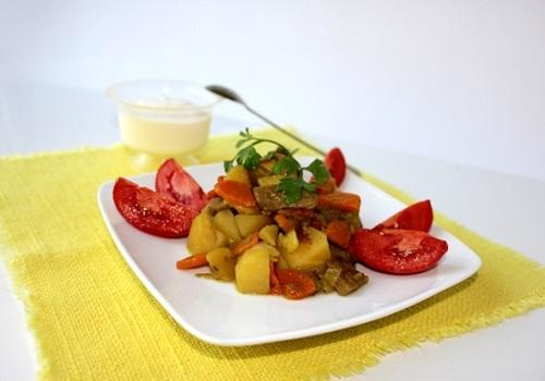 Картофельное рагу с грибами