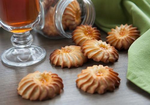 Печенье Курабье рассыпчатое с джемом
