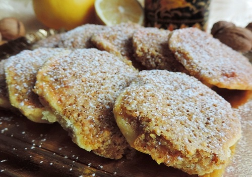 Творожное печенье «Орлиное гнездо» с ореховой начинкой