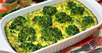 Запеканка из овощей и яиц