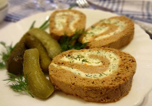 Паштет из печени с плавленым сыром