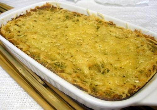 Запеканка из кабачков под сыром