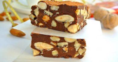 Фадж шоколадный с орехами