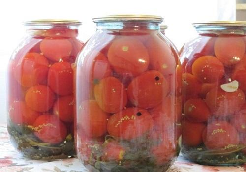 Консервированные помидоры по-белорусски на 3х литровую банку