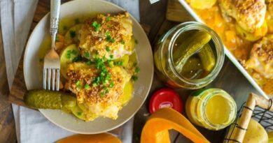 Маринованные куриные бедрышки в духовке с овощами