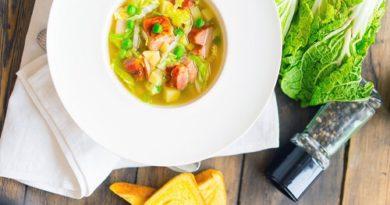 Суп с грудинкой и пекинской капустой