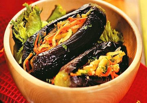 Квашеные баклажаны фаршированные овощами