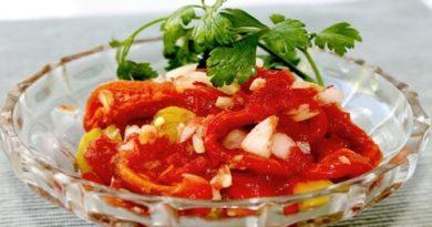 Салат из запеченного болгарского перца рецепт с фото - закуска Соронголло