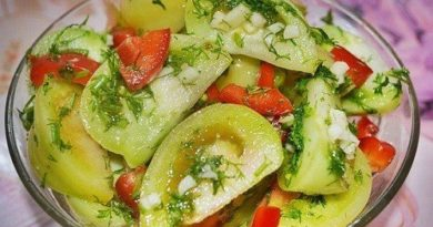 Квашеные зелёные помидоры по-грузински