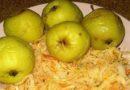 Мочёные яблоки с капустой