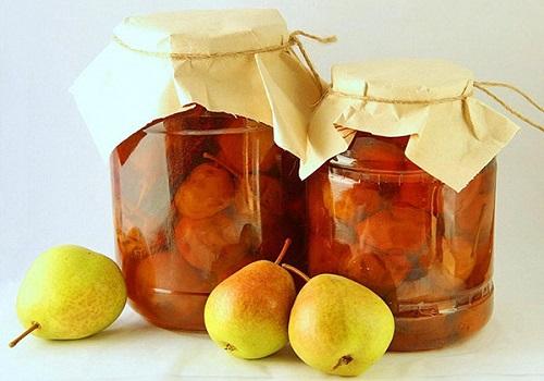 Варенье из груш целиком с лимоном и корицей