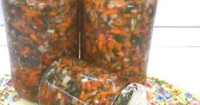 Заправка на зиму для супа, борща, мяса и соусов