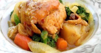 Курица карри с овощами по-индийски