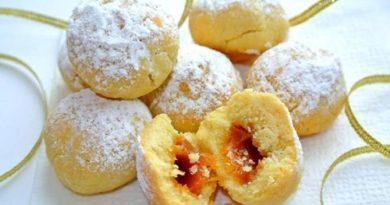 Песочное печенье с начинкой из ириски