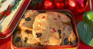 Песочное печенье с цукатами и орехами