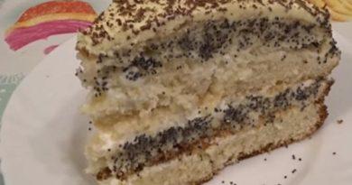 Бисквитный торт «Нежность» со сметанным кремом