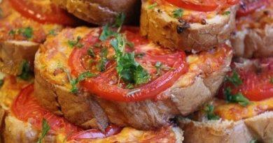 Горячие бутерброды «Ленивая пицца»