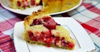 Знаменитый «Цветаевский пирог» с малиной