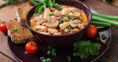 Гуляш грибной с куриным филе