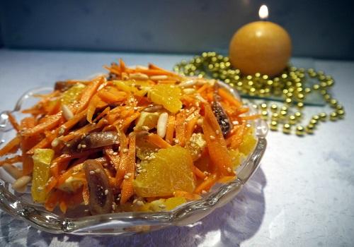 Морковный салат с апельсинами