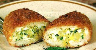Рыбные зразы с яйцом и зеленым луком