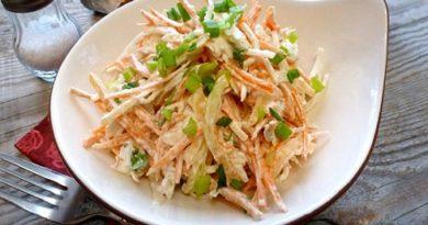 Салат из дайкона и моркови витаминный