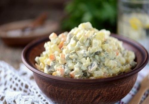 Легкий салат оливье рецепт диетический пошаговый рецепт с фото