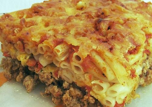 Запеканка из макарон с фаршем и сыром в духовке рецепт с фото пошагово