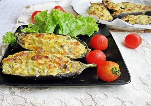 Запечённые баклажаны «Кучерикас» с творогом и сыром