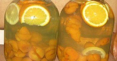 Компот из абрикосов и апельсинов «Фанта» на 3х литровую банку
