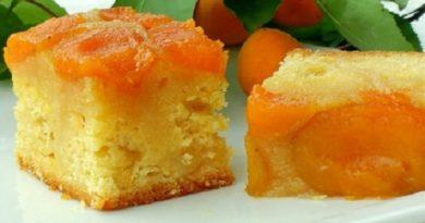 Абрикосовый пирог перевертыш с карамелью