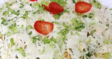Салат Диёр с жареным картофелем
