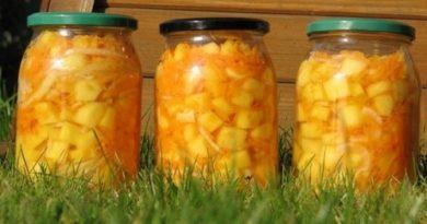 Салат из кабачков и моркови на зиму без стерилизации