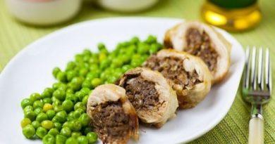 Куриные окорочка, фаршированные печенью