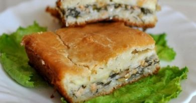 Пирог с рыбными консервами и картофелем